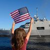 USS Fort Worth Departs from Marinette Marine Shipyard