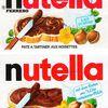 jeu nutella des sept différences: étiquette française vs étiquette allemande
