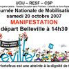 Appel à la manifestation
