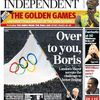 Sticky & Sweet Tour: Madonna on cover of newspaper ''The Independent''