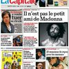 Madonna story on the cover of Belgian newspaper ''La Capitale''