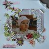 Ma petite pépète avec son bonnet, un peu rêveuse