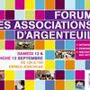 Forum des associations - Samedi 12 et dimanche 13 septembre