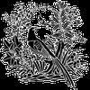 image ** ombre fleurs oiseau ** tube pour la création numérique