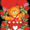 Image ** Ourson pot de fleurs love amour ** tube pour la création numérique
