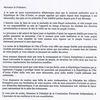 Lettre de Sarkozy à la CEI