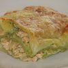 Lasagne au saumon et à la crème de cresson et brocoli