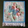 Carte papillon et fleurs
