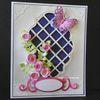 Carte fleurs et papillon