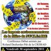 Conférence de la CRIIRAD à Feurs le 30/9 à 20h: départs groupés