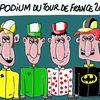 LE PODIUM DU TOUR DE FRANCE 2012