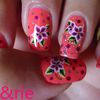"Nail Art # 53 : ""Hibiscus Fluo"""