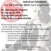 Sonntag,10. Februar, Königs Wusterhausen: Einweihung des Gedenksteins für Thälmann