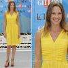 Hilary Swank In toryburch shoes at Giffoni Film Festival