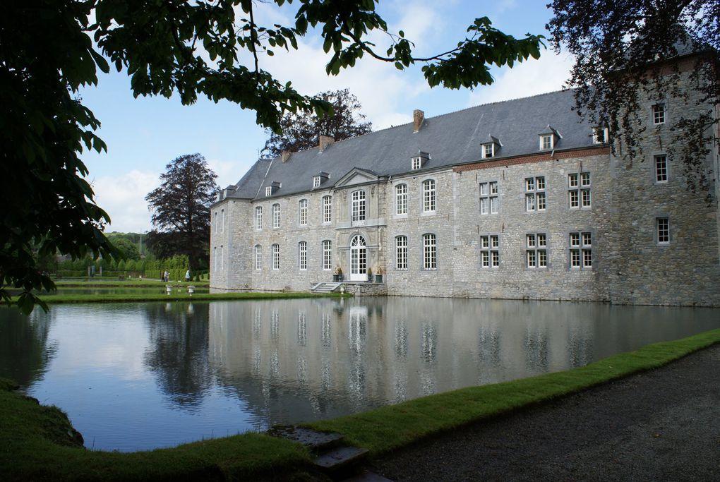 Jardins d'Annevoie, Oies sur la Meuse à Profondeville, ...