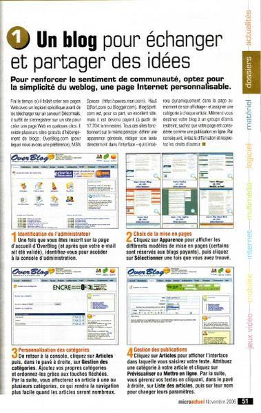La revue de presse centralise les articles parus dans les journaux, qui parlent d'Overblog et de son évolution&#x3B; de la presse classique à la presse spécialisée (professionnelle).
