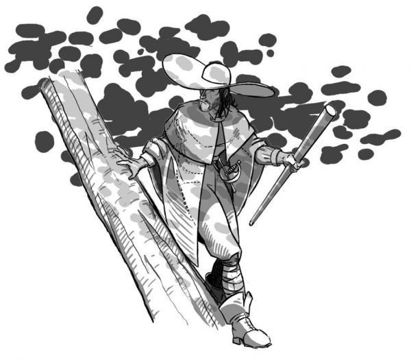 Les dessins préparatoires du dossier BD par Sébastien 'Wenlock' Delfino.