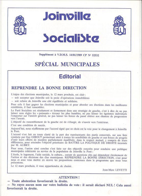 Les Unes des publications socialistes de Joinville