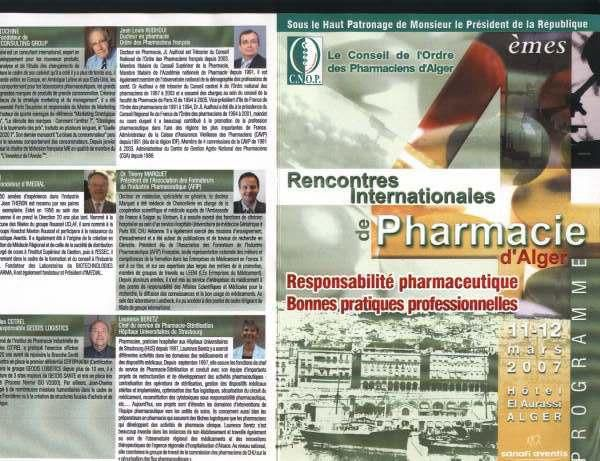 Voici quelques moments choisis des Quatri&egrave&#x3B;mes Rencontres Internationale de pharmacie en Alg&eacute&#x3B;rie