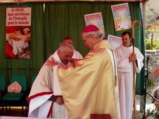 Voici les photos du 60&egrave&#x3B;me anniversaire de l'ordination du P&egrave&#x3B;re Jules Reymond, &agrave&#x3B; Baratier !