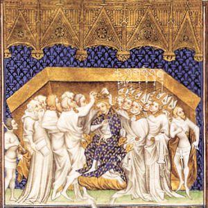 Le couronnement d'un Roi de France a toujours donn&eacute&#x3B; lieu &agrave&#x3B; de belles repr&eacute&#x3B;sentations iconographiques, en voici quelques unes :