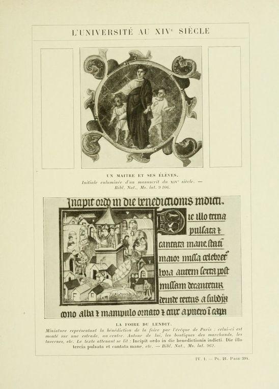 Gravures anciennes illustrant l'histoire de France