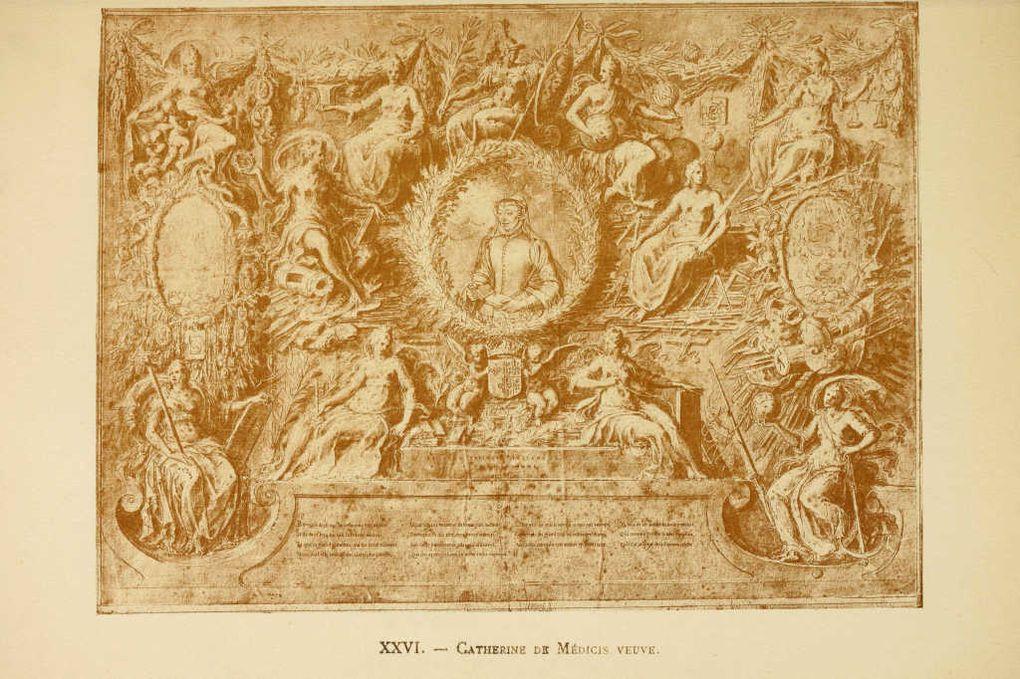 Dessins anciens illustrant l'histoire des rois de France