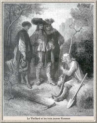 Gravures de Gustave Doré pour l'illustration des Fables de Jean de la Fontaine