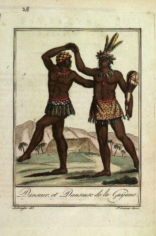 Album - Gravures ancienne indigenes Amerique.-
