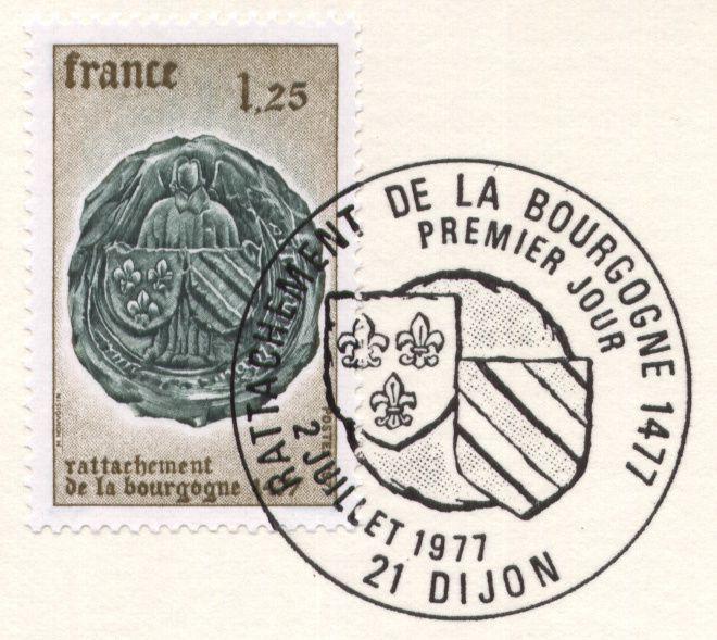 Timbres premier jour (first day cover - FDC) de france. Année 1977 complète.-