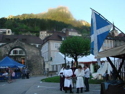 La Compagnie médiévale des Flambeaux de l'Allan à la Fête du Sel de Salin les Bains (Jura 39)