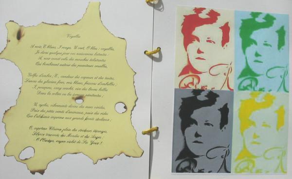 Po&egrave&#x3B;mes de Rimbaud illumin&eacute&#x3B;s par des &eacute&#x3B;l&egrave&#x3B;ves de 1&egrave&#x3B;re S du lyc&eacute&#x3B;e de l'Iroise 2004-2005