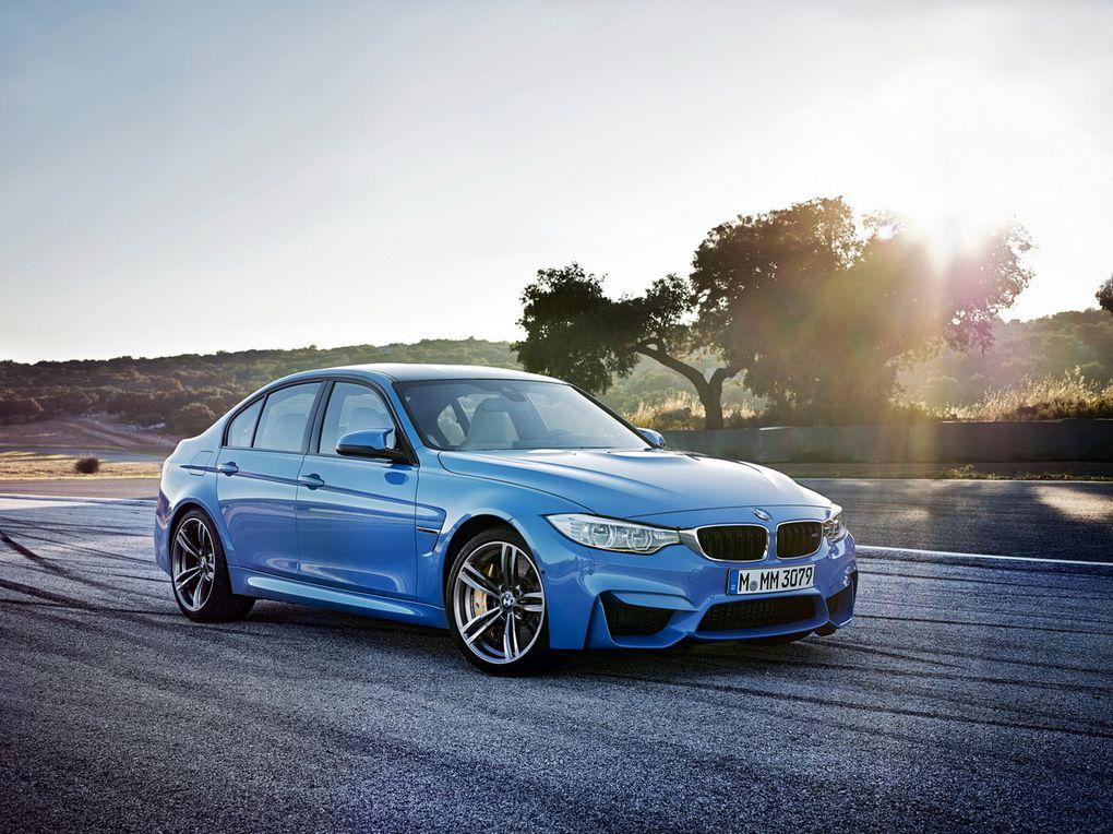 Nouvelle BMW M3 avec moteur 6 cylindres en ligne 3 litres bi-turbo de 431 ch.