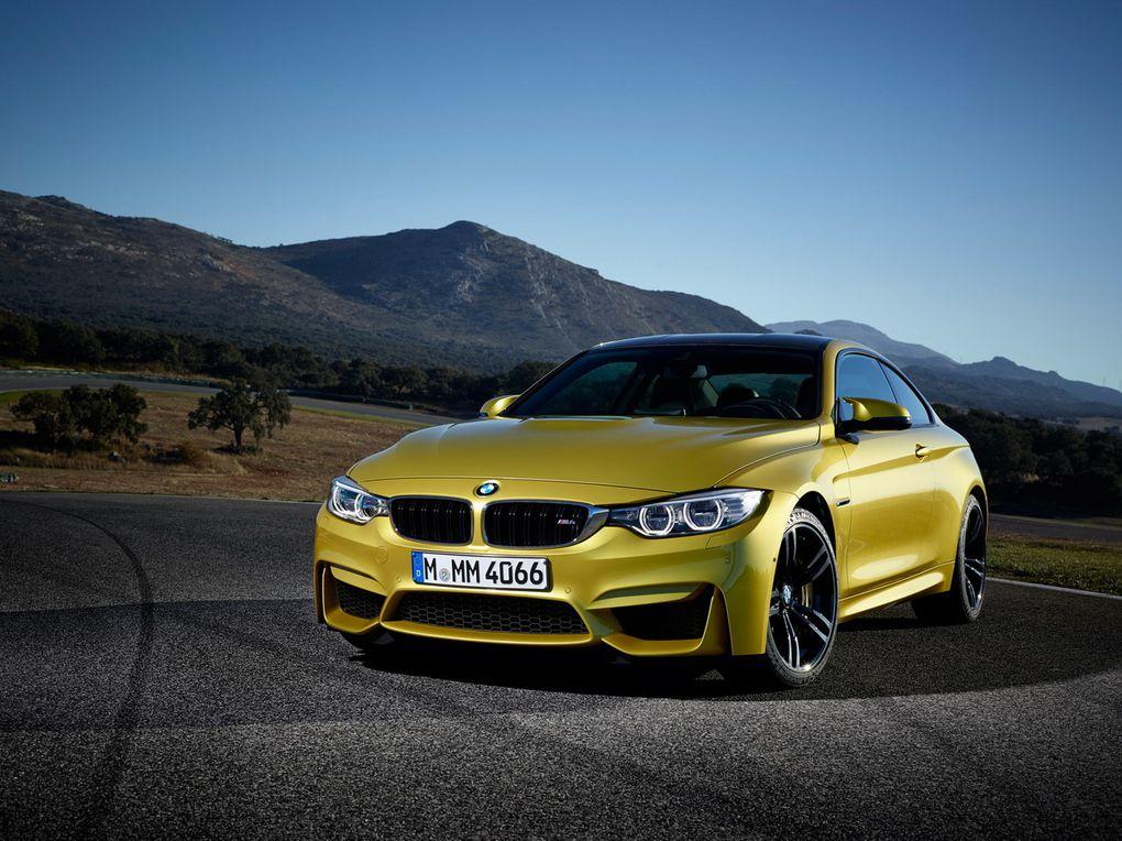 Les photos de la BMW M4 Coupé. Elle est animée par un 6 cylindres en ligne 3 litres bi-turbo de 431 ch.