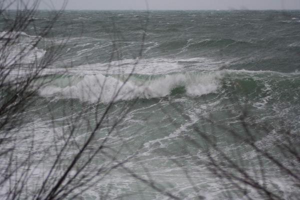 Quelques images de la temp&ecirc&#x3B;te &agrave&#x3B; Roscoff