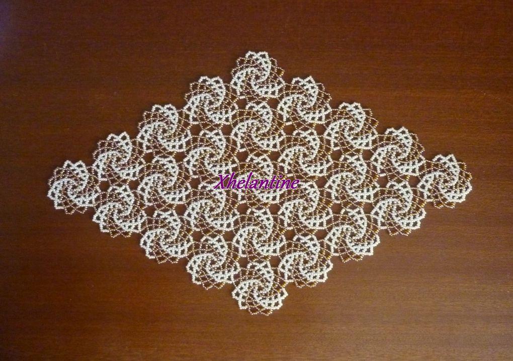 Tous les napperons en perles que j'ai réalisés