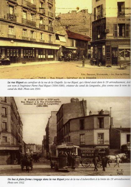 Les rues de notre quartier La Chapelle au début du XXème siècle.
