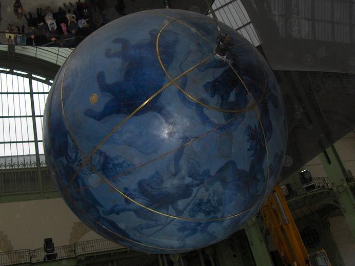 <p>Le Grand Palais avec sa verri&egrave&#x3B;re et les globes de Coronelli (17&egrave&#x3B;me si&egrave&#x3B;cle).</p>