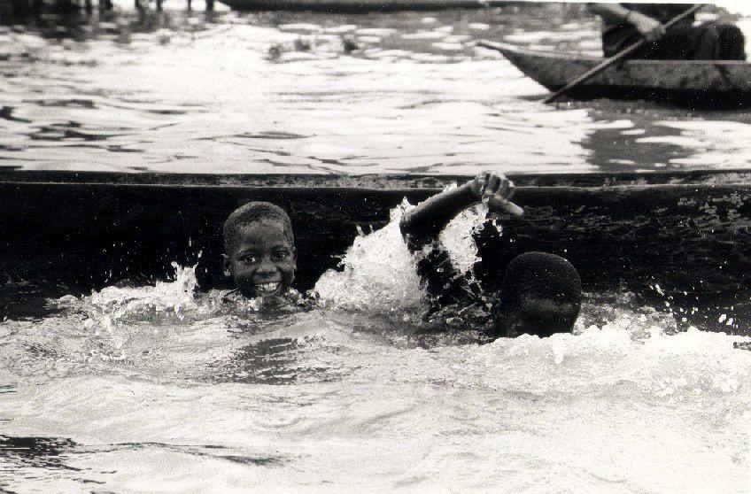 Makoko, Lagos, Nigeria, Juillet 2005.