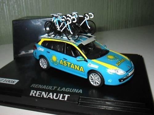 Transformations de miniatures : véhicules d'équipes cycliste et de la caravane.