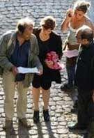 """Images du film """"Parlez-moi de la pluie"""" (2008), du film """"Du vent dans mes mollets"""" (2012) et de """"Au bout du conte"""" (2013)."""