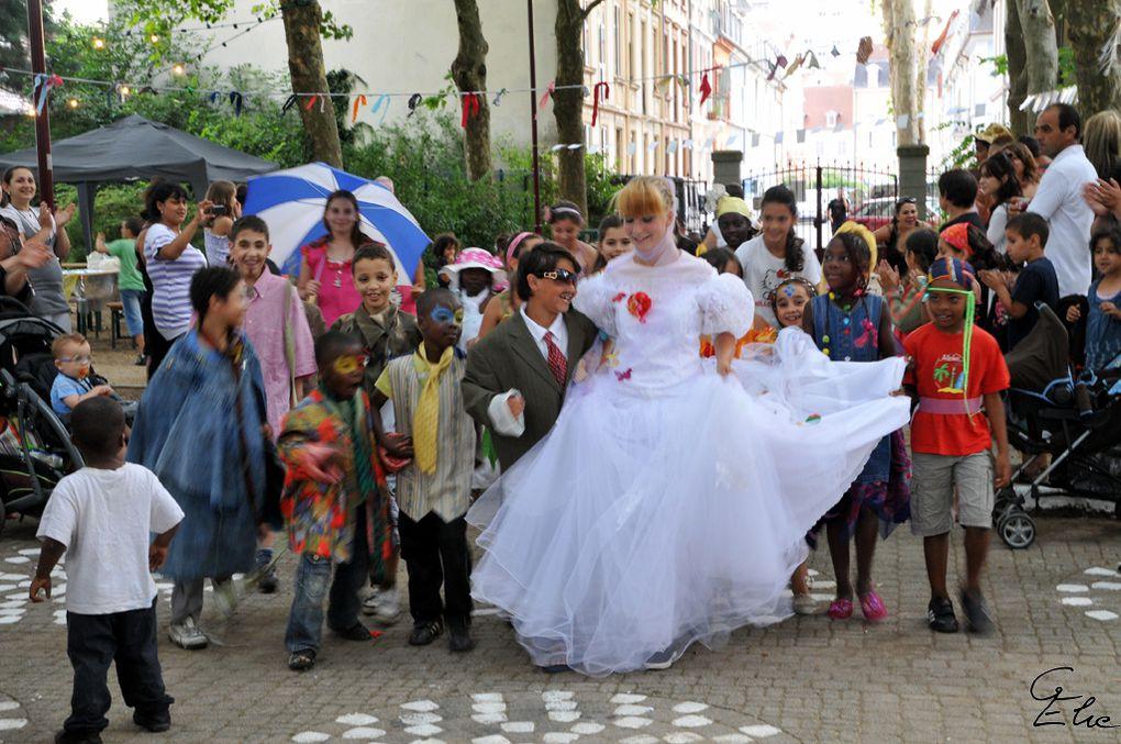 Actions artistiques participativesautour des futurs jardins Neppert à Mulhousemenée dans le cadre du programme de Rénovation Urbaine de Mulhouse