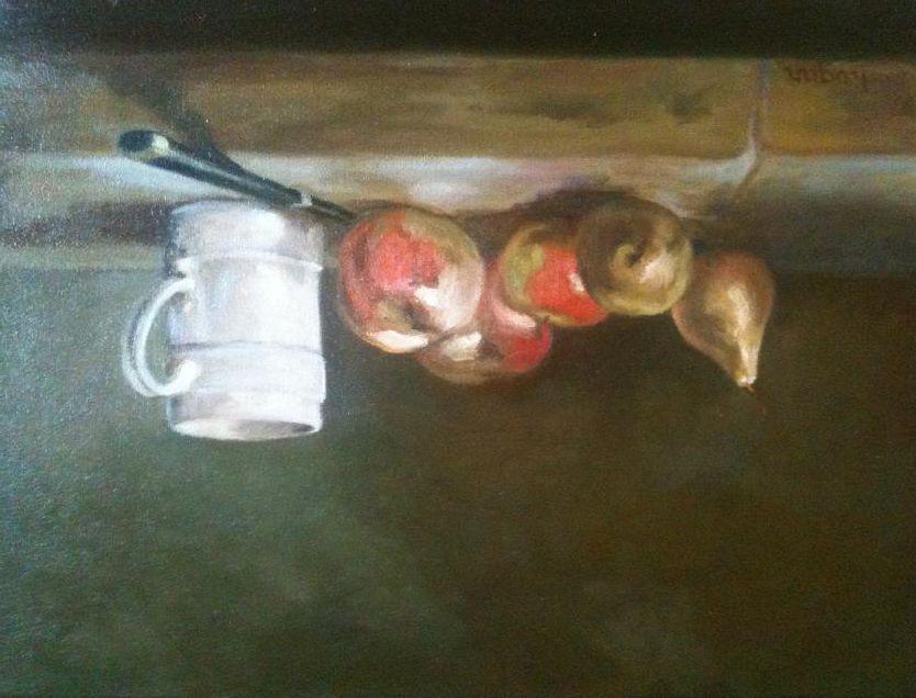 Quelques uns de mes tableaux. Je peins surtout des natures mortes, des bouquets et des paysages.