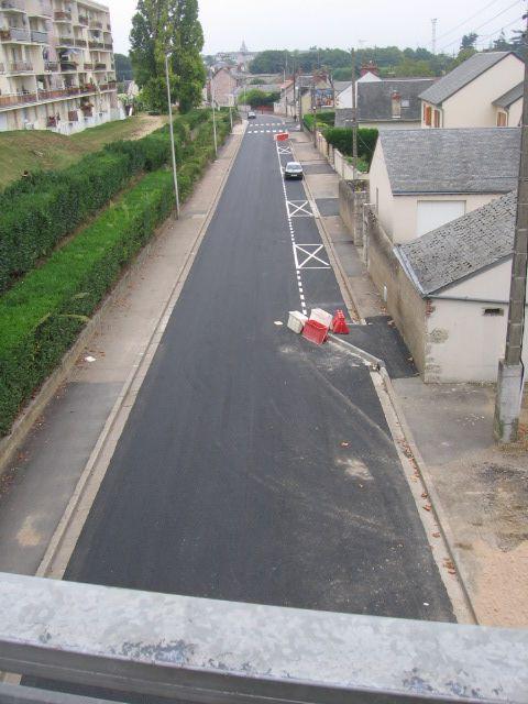 Blois rue Michel Bégon aménagements en zone 30 km/h.