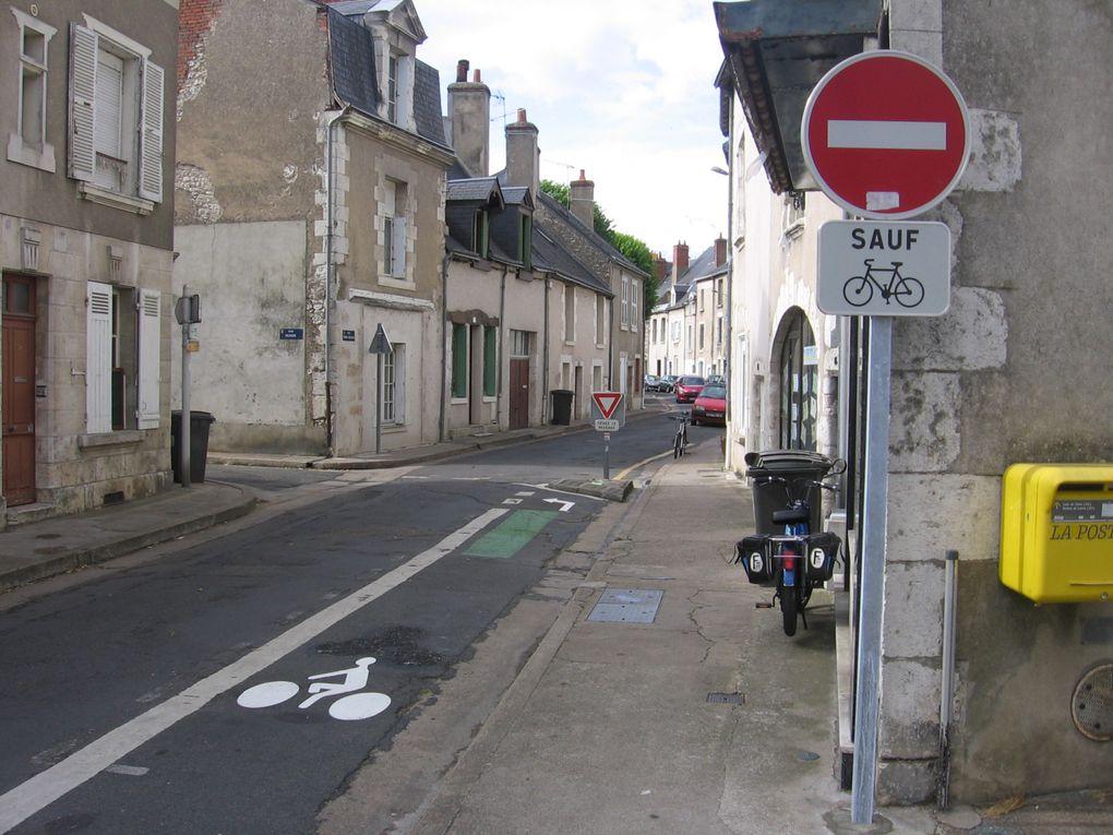 Blois aménagements cyclables.Plan de modération de la vitesse.