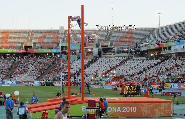 Photos des championnats d'Europe d'athlétisme 2010 de Barcelone qui a vu des français étincelants à l'image de Christophe Lemaitre et Renaud Lavillenie !