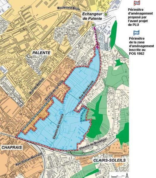 <p>Voici un plan que nous a donn&eacute&#x3B; la Mairie. La zone marqu&eacute&#x3B;e en bleu est la zone concern&eacute&#x3B;e par le projet de la Mairie. </p><p>Il est important de souligner que des maisons pourront &ecirc&#x3B;tre maintenue &agrave&#x3B; l'int&eacute&#x3B;rieur de cette zone, si elles n'emp&ecirc&#x3B;chent pas le projet de la Mairie (voirie + logements).</p><p>Il faut aussi souligner que <strong>CE PLAN N'EST PAS CONTRACTUEL de la part de la Mairie, il peut &eacute&#x3B;voluer -du moins nous l'esp&eacute&#x3B;rons f