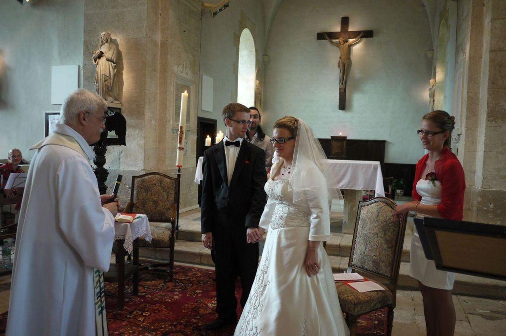 """Samedi 7 juillet 2012 à 16h30 en l""""église de Saint Marcel (Eure), mariage de Amélie et Damien"""