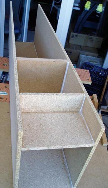 Photos de la construction des caisses provisoires des Icelade 222 en attendant qu'elles deviennent Icelante....