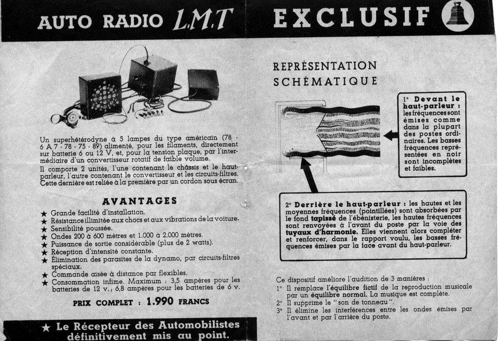 Mémo RADIO de L.T.M 1935-193646 Quai de BoulogneBoulogne-Billancourt 92100